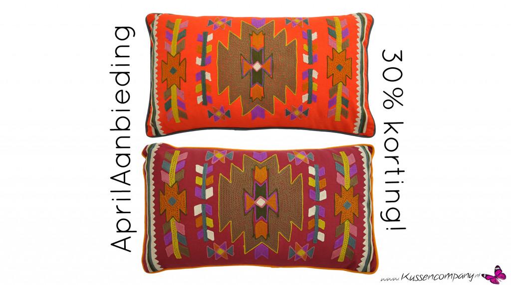 Deze hele maand 30% korting op deze geweldige Aztek kussens! In diep ...