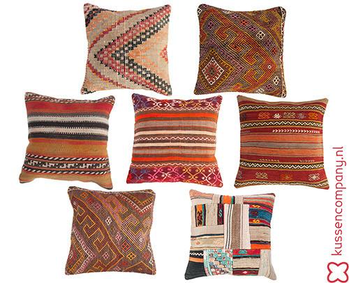 De nieuwe kelim-kussens staan erop! - kussens, poefen, zitkussen ...