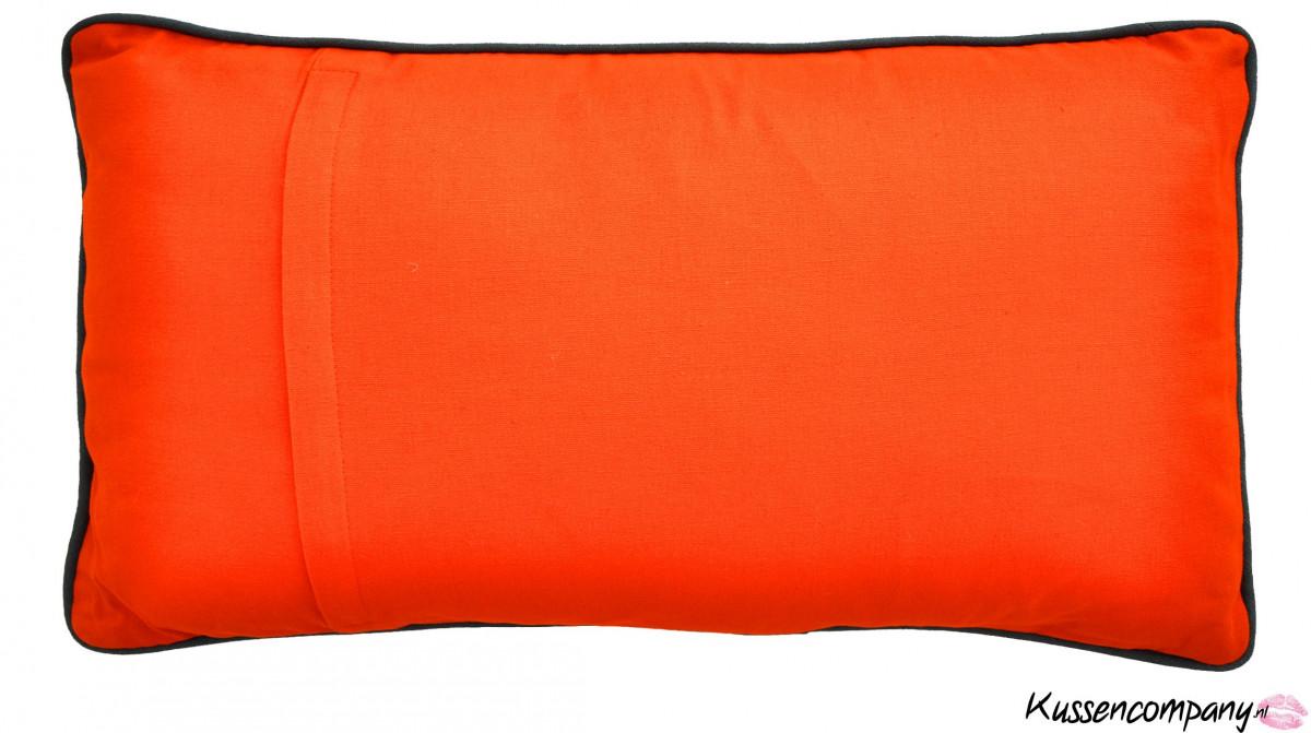 kussen aztek oranje 40x60 cm sierkussens alle maten
