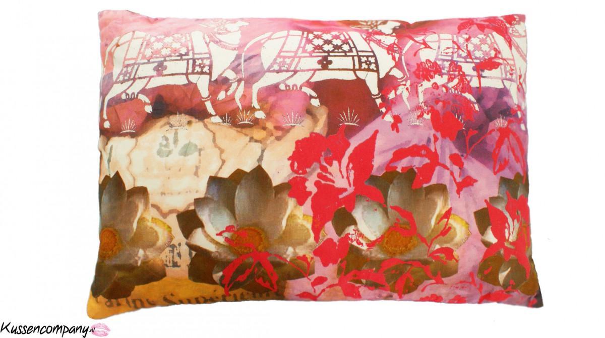 Aanbieding: Kussen Roze Print 40 x 60 cm - Sierkussens - kussens ...