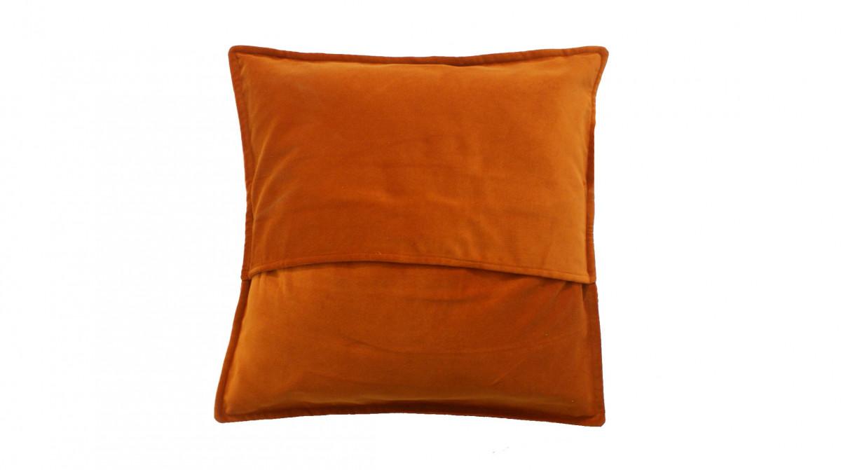 Kussen fluweel oranje 50x50 cm sierkussens kussens poefen zitkussen krukjes plaids - Kussen oranje en bruin ...