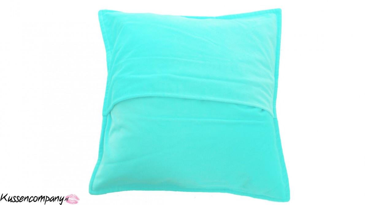 Kussen fluweel Turquoise 50 x 50 cm - Sierkussens - kussens, poefen ...