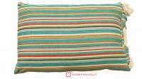 Aanbieding: Kussen Streep Blauw met Touw 40 x 60 cm