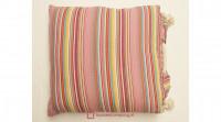Aanbieding: Kussen Streep Roze Touw 60 x 60 cm