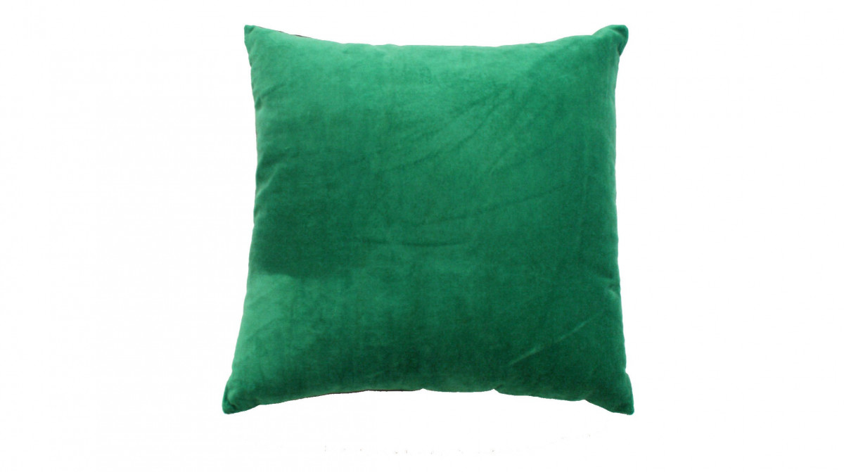 Kussen groen/bruin velours 50x50 cm - Sierkussens - kussens, poefen ...