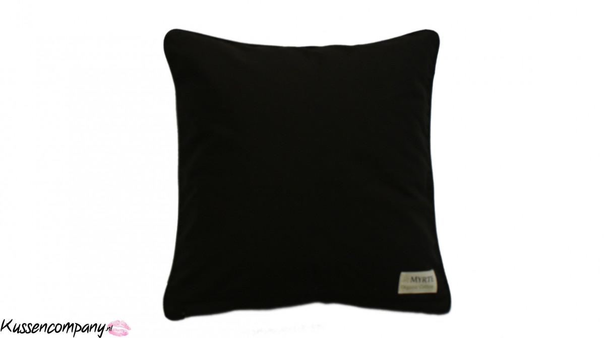 Kussen Merel wit-zwart 40 x 40 cm - Sierkussens - kussens, poefen ...
