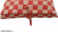 Aanbieding: Kussen Pompdoek Rood 35 x 50 cm