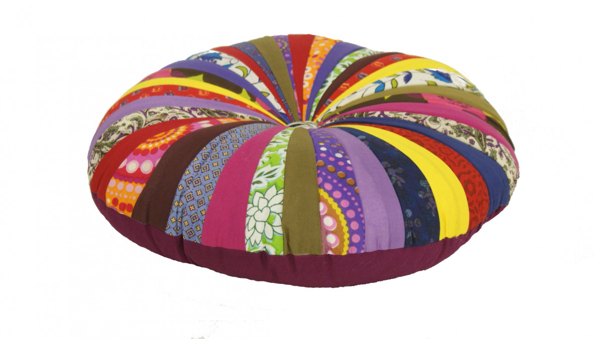 Kussen rond multi kleur 45 cm - Sierkussens - kussens, poefen ...