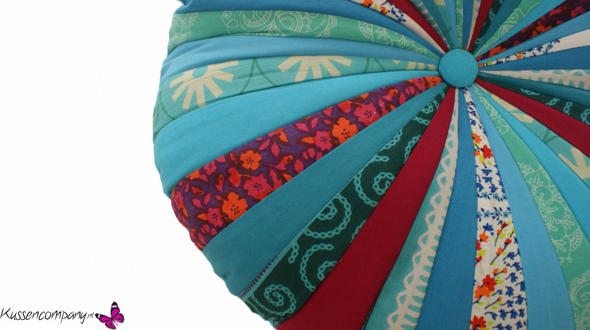 Kussen rond turquoise 45 cm - Sierkussens - kussens, poefen, zitkussen ...