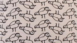 Aanbieding: Kussen Vogel Zwart 45 x 45 cm