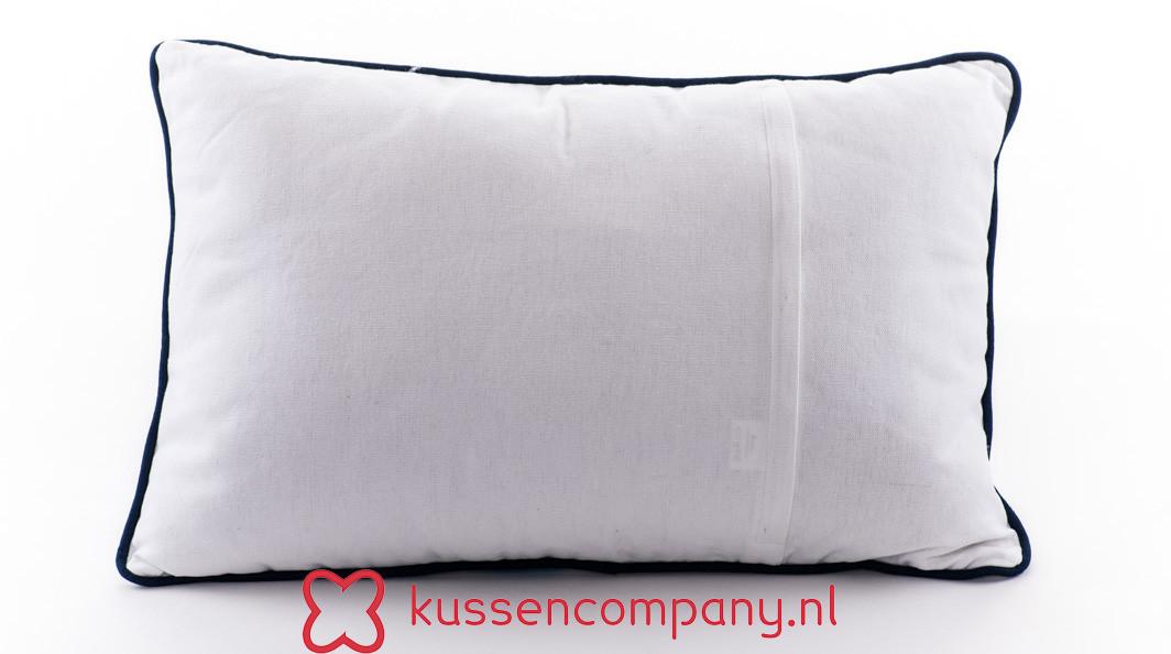 Aanbieding: Kussen Wit Geborduurd 40 x 60 cm - Borduur - Print ...