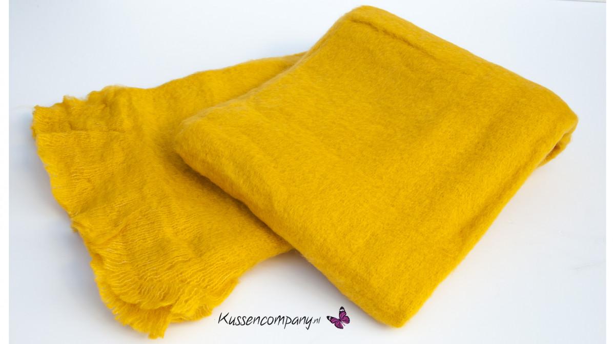 Plaid wol zon geel 130 x 170 cm plaids plaids dekens quilts alle maten binnenkussens - Quilts gele ...